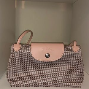 Longchamp Le Pliage Light Pink Crossbody Bag